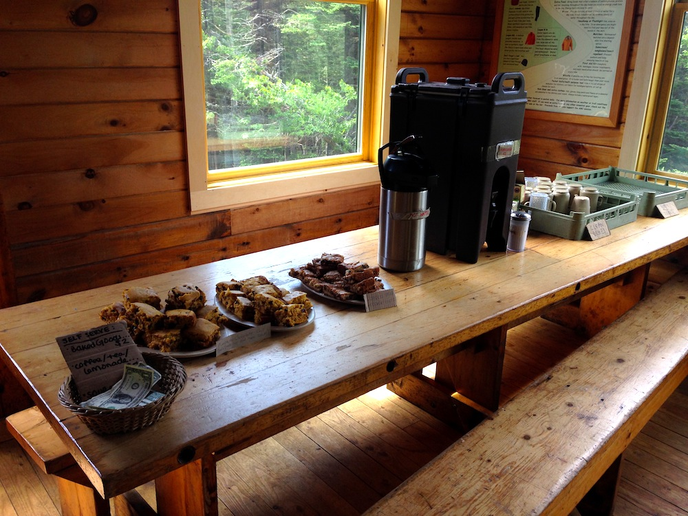 The spread at the Mizpah Springs Hut