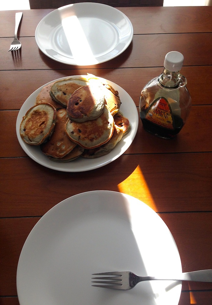 Pancakes for dinner! A great weekend option.