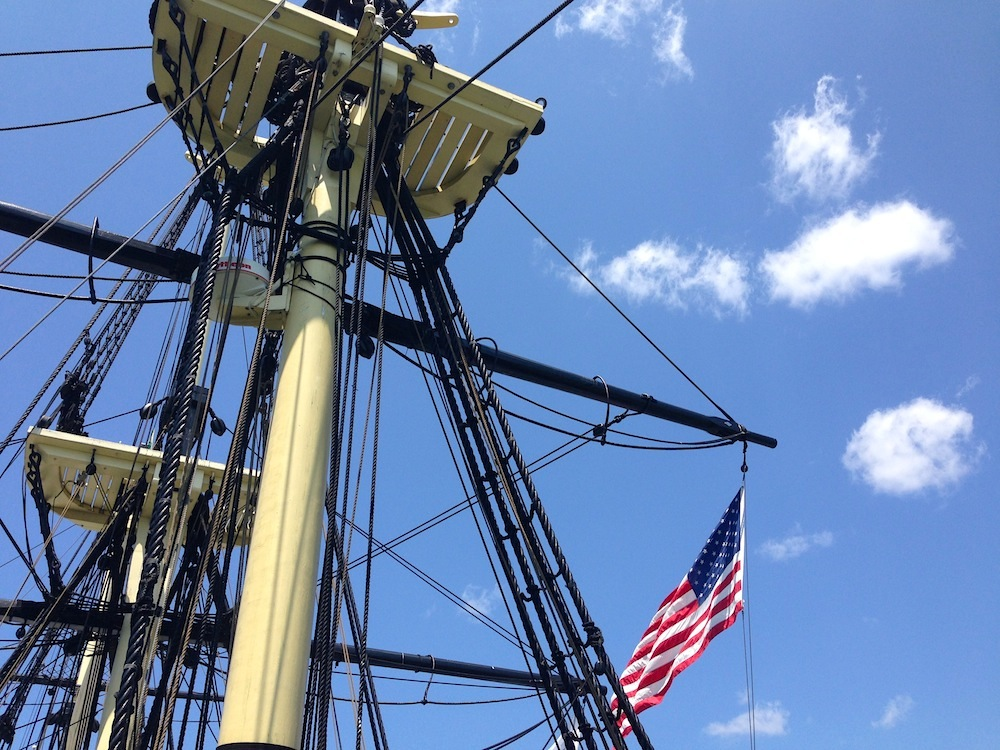 The Friendship of Salem's mast!