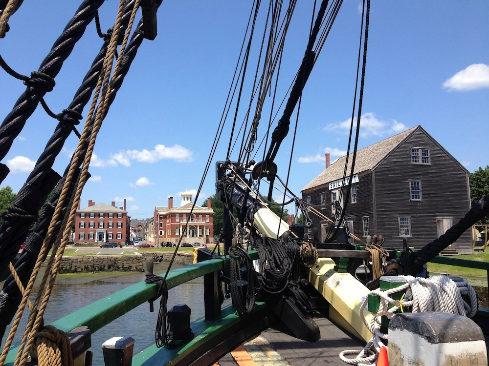 A lovely view from the Friendship of Salem's bow