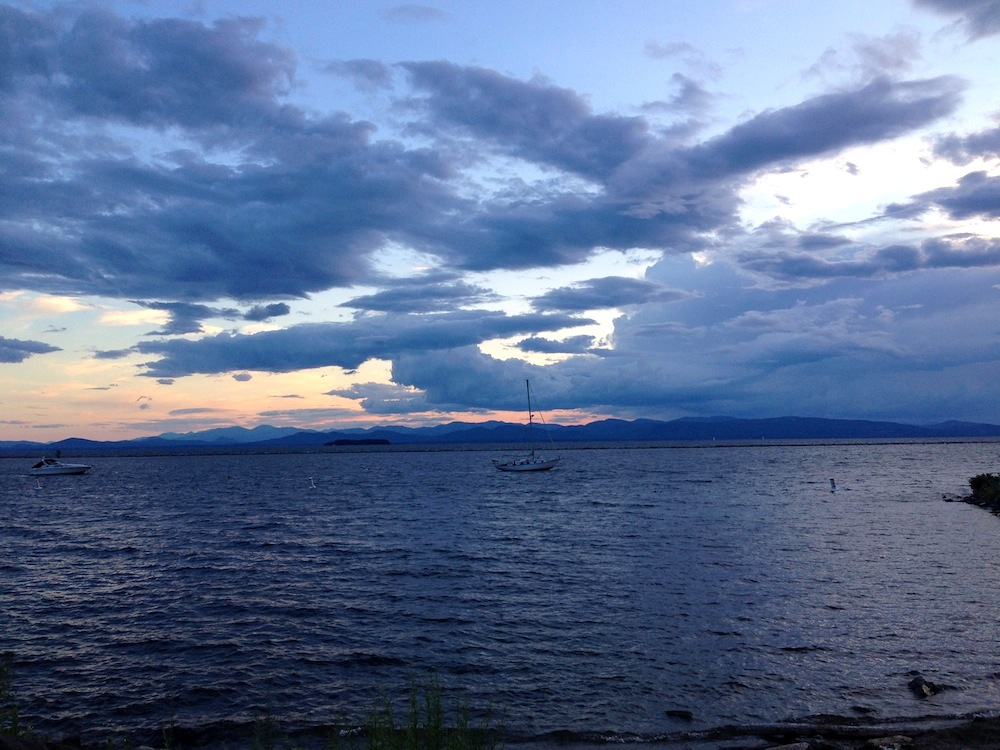 View of Lake Champlain during our trip to Burlington, VT