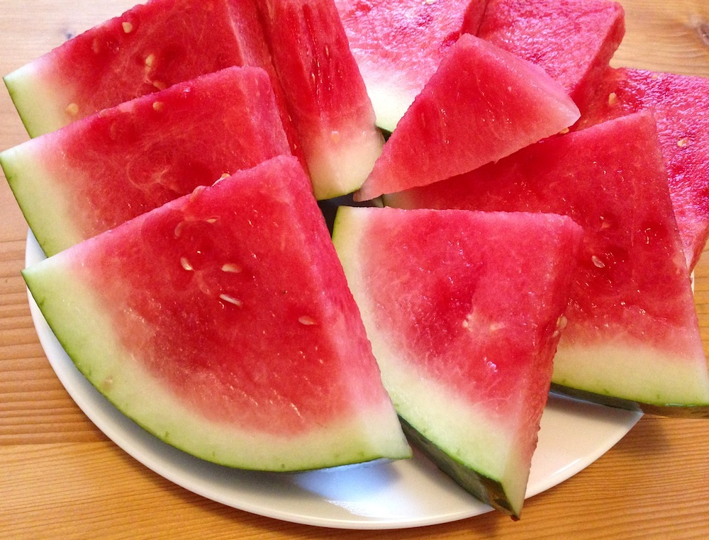 An excessive amount of watermelon (which is my latest pregnancy craving... )