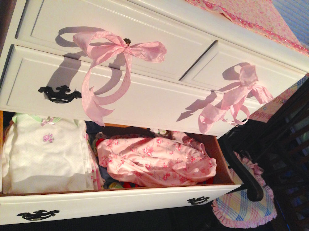 Babywoods' clothes inside the dresser... ahhh organization