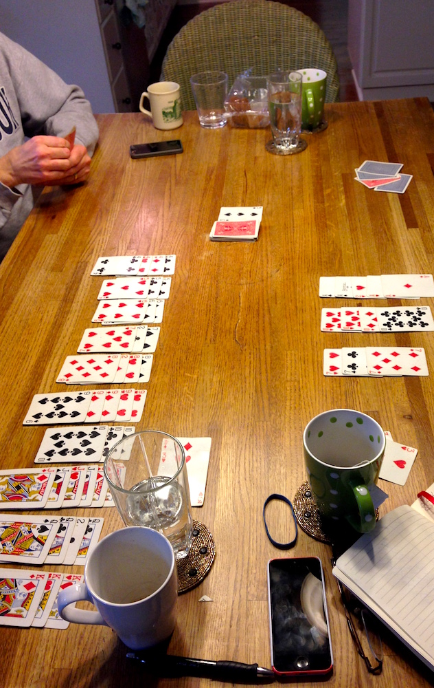 Playing Canasta with my in-laws: a family fave with both my parents' and Mr. FW's