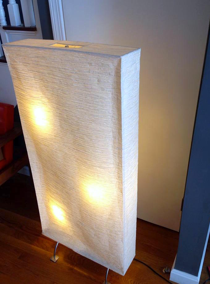 The 4' tall lamp we gave away