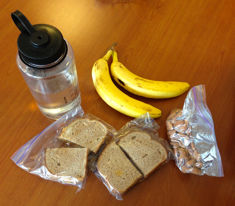 The lunch we packed for our childbirth class