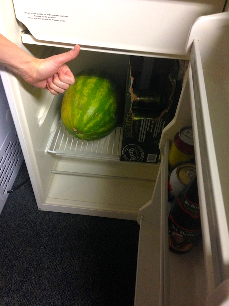 My minifridge watermelon
