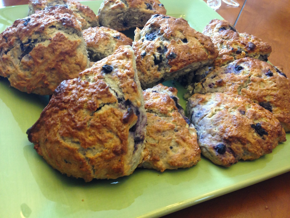 I had to include a close-up of the scones