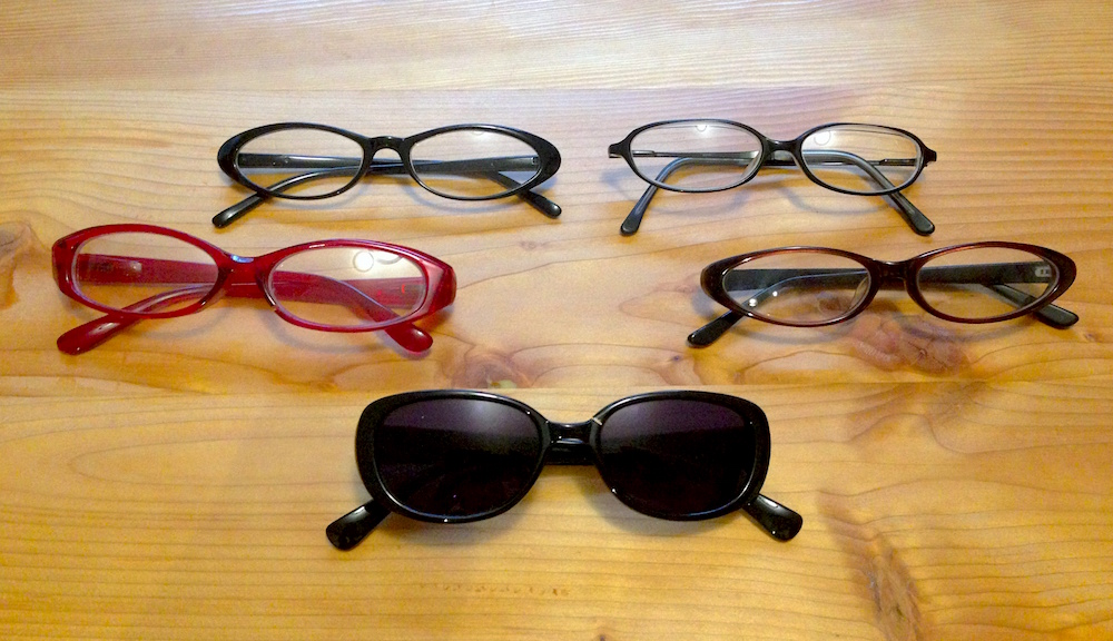 My collection of cheap eyeglasses