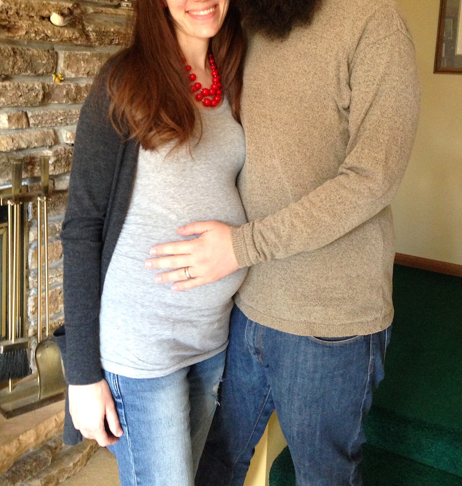 Me & Mr. FW at my aunt's house last week. I'm 35 weeks pregnant today!