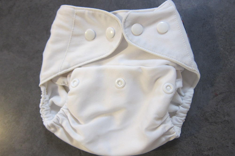 Pocket diaper folded up