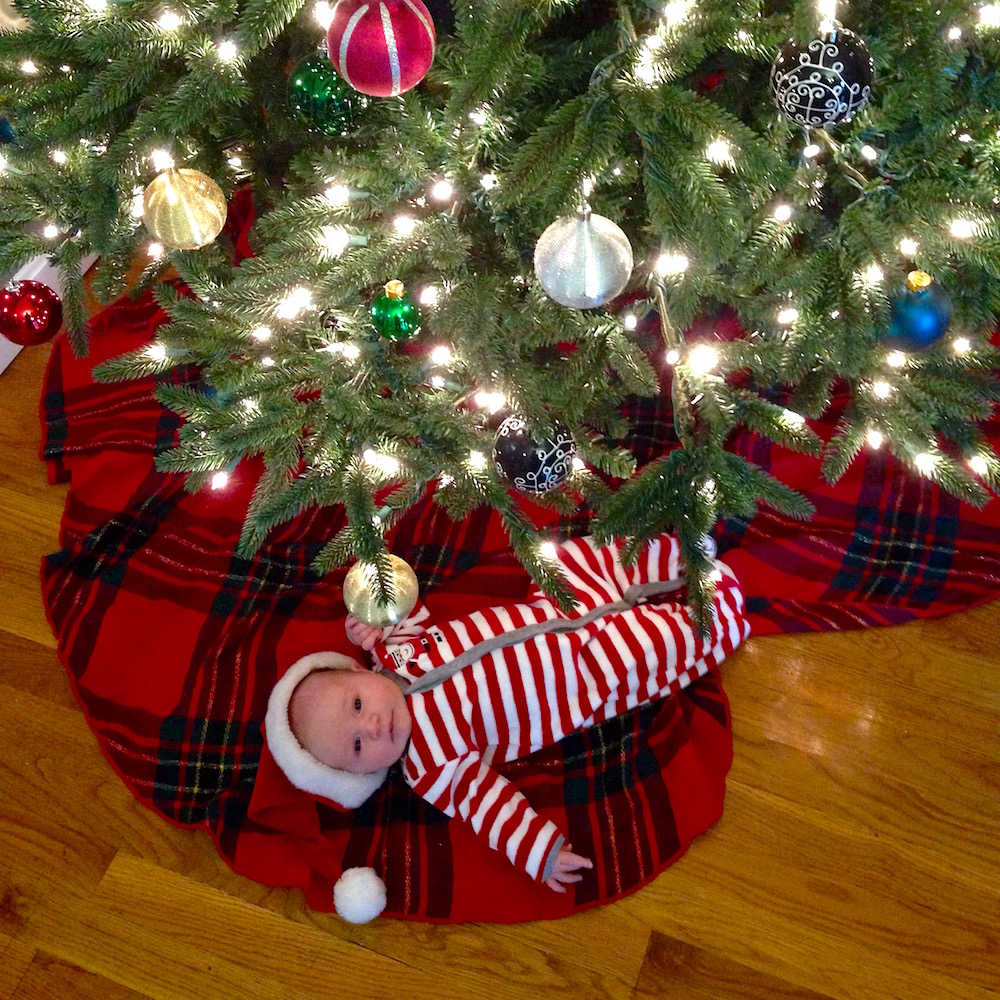 Babywoods last year: 1 month old at Christmastime!
