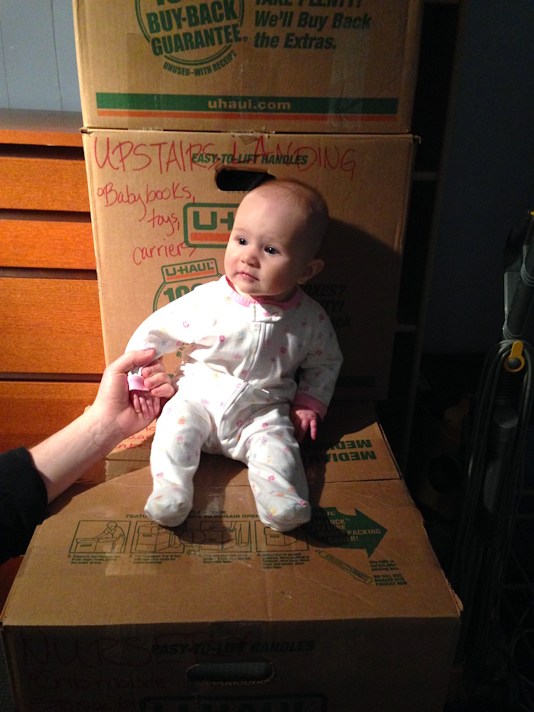 Obligatory baby-on-a-box pic