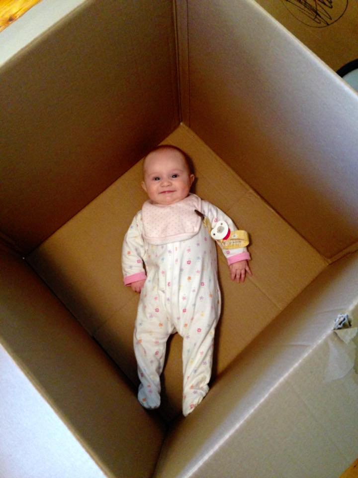 Obligatory baby-in-a-box pic