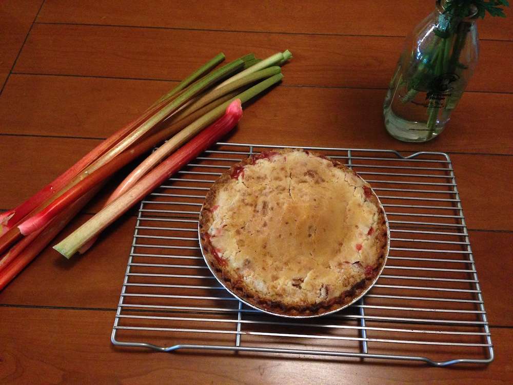 Another rhubarb creation: pie!