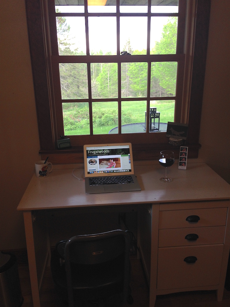 My amazing new writing office/yoga studio