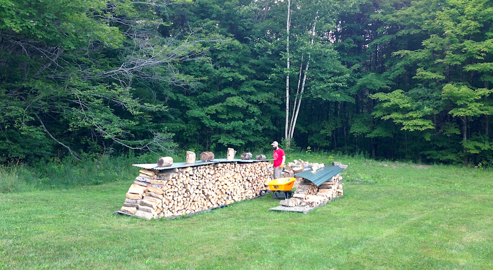 Mr. FW chopped all of this wood by hand!