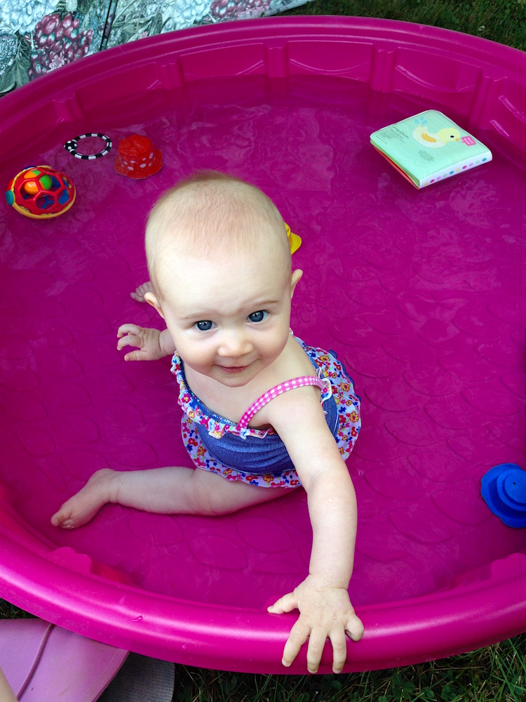 Babywoods loves her pool!