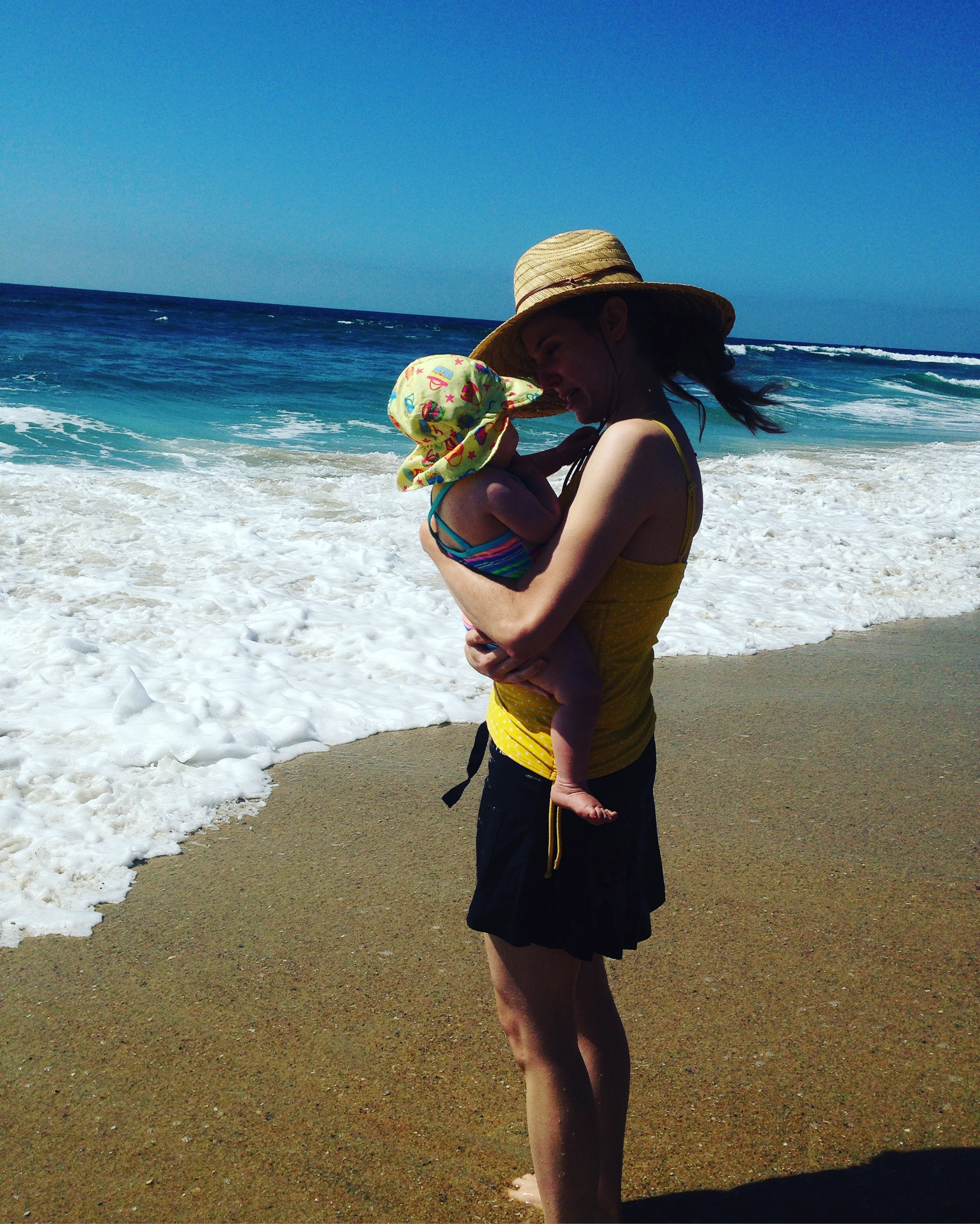 Babywoods and me on the beach in CA