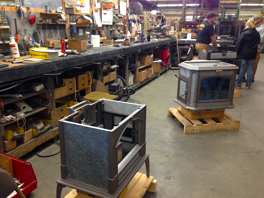 Touring the woodstove factory!